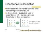 dependence subsumption