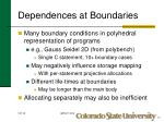 dependences at boundaries