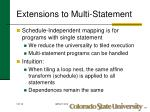 extensions to multi statement