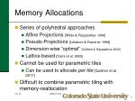memory allocations