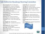 safe deliveries roadmap steering committee