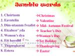 jumble words