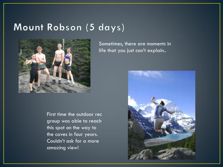 Mount Robson (5 days)