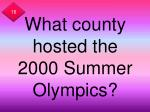 what county hosted the 2000 summer olympics