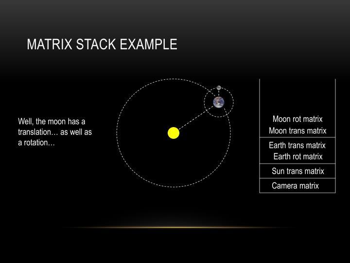 Matrix Stack Example