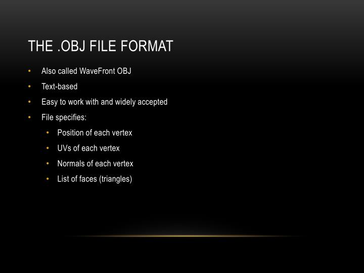 The .OBJ file