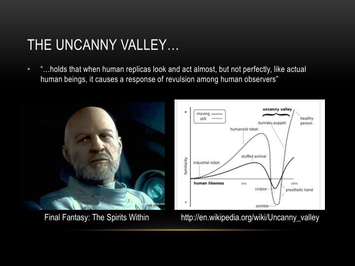 The Uncanny Valley…