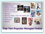 top ten popular mangas today