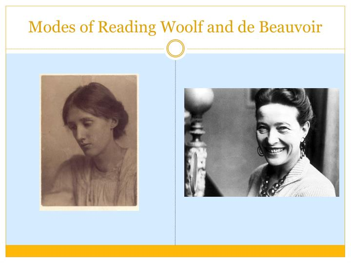 modes of reading woolf and de beauvoir n.