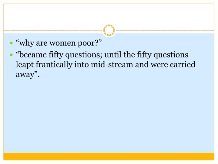 """""""why are women poor?"""""""