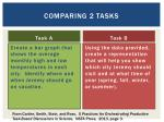 comparing 2 tasks
