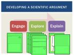 developing a scientific argument