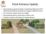 front entrance update