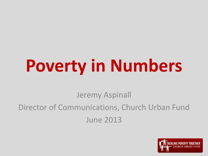 poverty in numbers n.