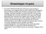 dominique et paix