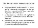 the mee dpb will be responsible for