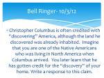 bell ringer 10 3 12
