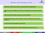 benefits and advantages contd