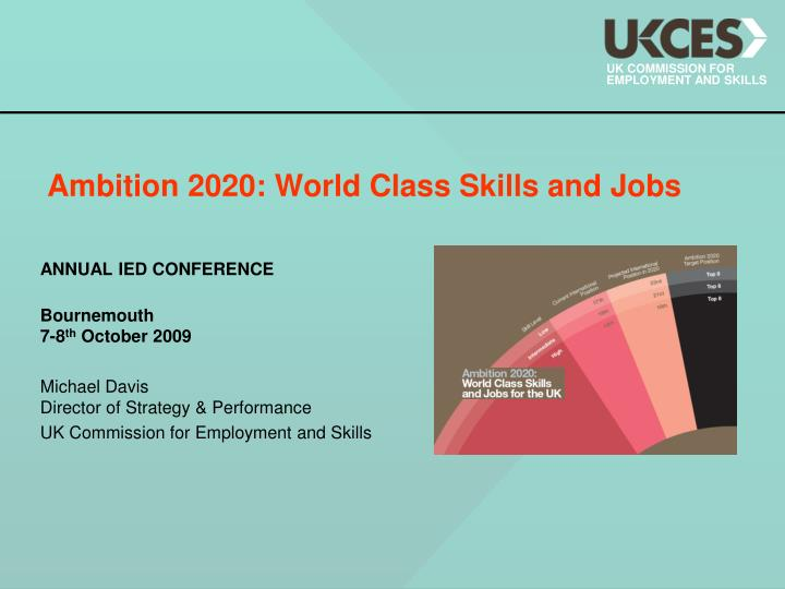 ambition 2020 world class skills and jobs n.
