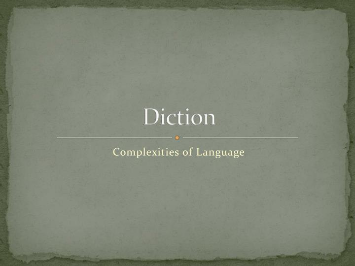 diction n.