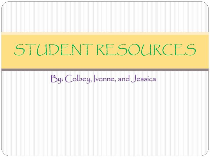 student resources n.