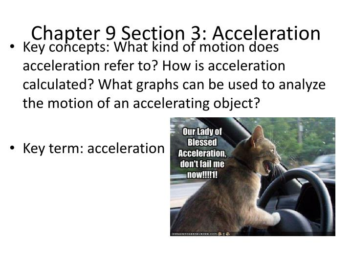 chapter 9 section 3 acceleration n.
