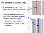the benefits of our allocator