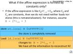 what if the affine expression is formed by constants only