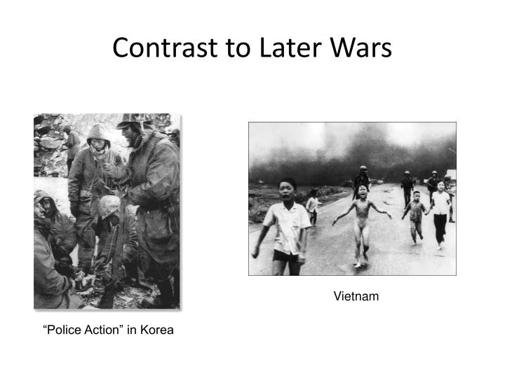 Contrast to Later Wars