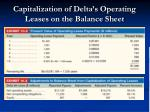 capitalization of delta s operating leases on the balance sheet