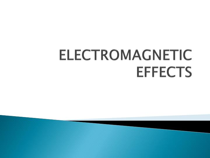 electromagnetic effects n.