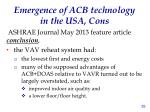 emergence of acb technology in the usa cons2