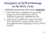 emergence of acb technology in the usa cons3