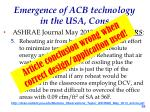 emergence of acb technology in the usa cons5