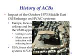 history of acbs2