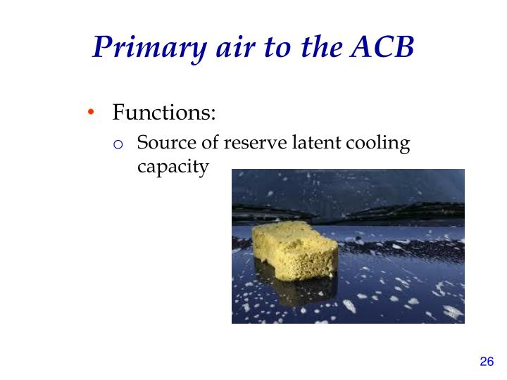 Primary air to