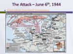 the attack june 6 th 1944