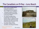 the canadians on d day juno beach