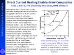 direct current heating enables new composites erica l corral the university of arizona dmr 0954110