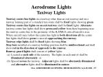 aerodrome lights taxiway lights