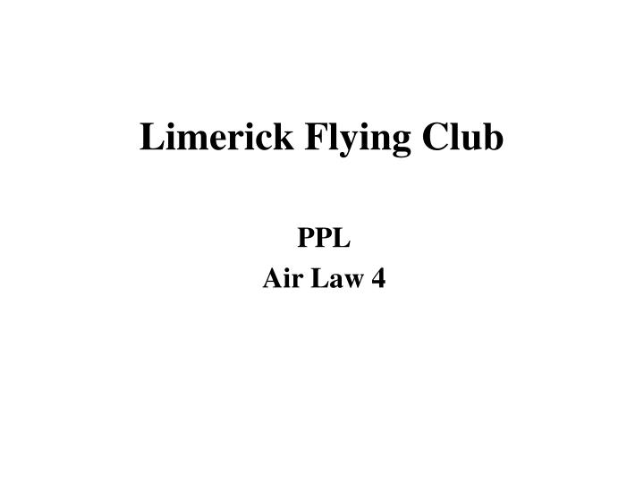 limerick flying club n.