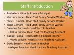 staff introduction