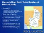 colorado river basin water supply and demand study