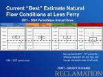 current best estimate natural flow conditions at lees ferry