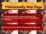 filamentality web page