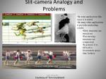 slit camera analogy and problems