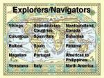 explorers navigators