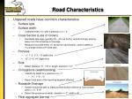 road characteristics