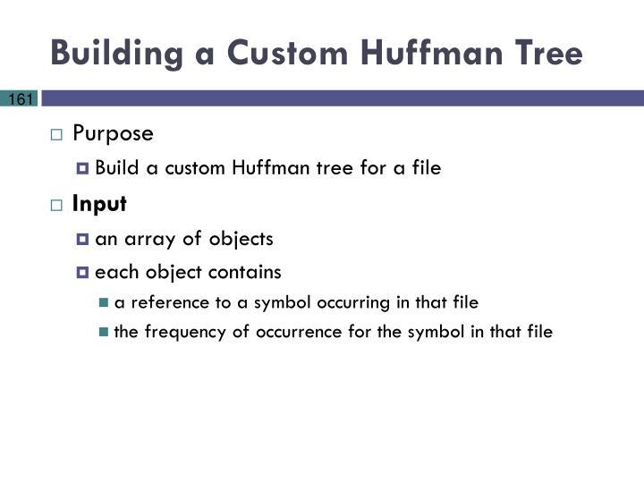 Building a Custom Huffman Tree