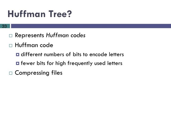 Huffman Tree?